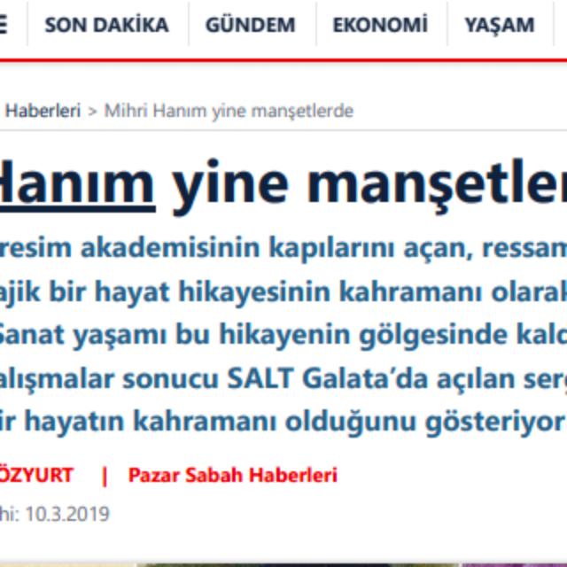 Mihri Hanım in the Headlines, Again